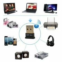 stock banyak Bluetooth Receiver CSR 4.0 Dongle USB+CD Driver