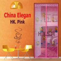 Tirai Magnet Elegan Hello Kity Pink