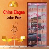 Tirai Magnet Elegan Lotus Pink