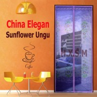 Tirai Magnet Elegan Sunflower Ungu