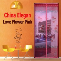 Tirai Magnet Elegan Love Flower