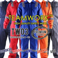 TW03 TeamWork Coverall Premium Super Big Size Wearpack Kerja Safety