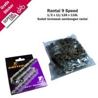 Rantai Sepeda Rante 9 Speed United RT-271