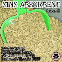 SINS ABSORBENT NATURAL Paper Bedding by Akashams 250gr