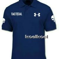 kaos polo shirt Tactical/Under Armour tengkorak