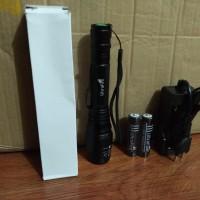 Paket senter LED ultrafire police panjang besar cree XML T6 18650 zoom