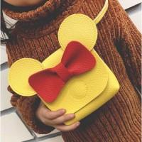 Tas Anak Import Mickey Mouse   Tas Koin   Tas Selempang bahan jeruk