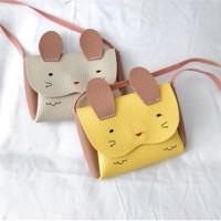 Tas Anak Import Sling Rabbit   Tas Koin   Tas Selempang bahan jeruk