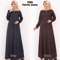 Baju Gamis Wanita Gamis Calvin Jeans Polos Gamis Jumbo 7089