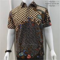 Kemeja Batik Pria Lengan Pendek Murah Baju Batik Cowok Basic