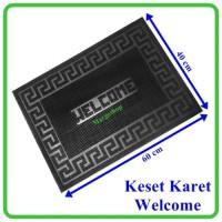 Keset-Karpet Karet Anti-Slip Welcome Ukuran 40X60cm Berkualitas