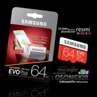 Samsung MicroSD EVO Plus 64GB + Adaptor - Garansi Resmi 10 thn