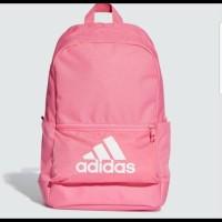 Harga branded original adidas backpack tas ransel soft pink sisa export | Pembandingharga.com