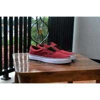 sepatu vans era classic merah marun sneakers kasual termurah