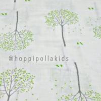 Kain Bedong Bayi Bamboo Muslin Swaddle Hoppipollakids-Spring Green Tre