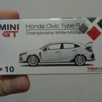 Mini GT Honda Civic Type R FK8 Championship White Modulu Edition segel
