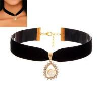 Harga kalung etnik fashion choker pearl oval rbed8f murah aksesori   Pembandingharga.com