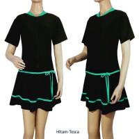 Baju Renang Rok Jumbo Polos Premium ROKJB-133 - Dongker Biru T, 4L
