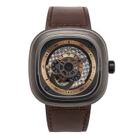 JAM TANGAN SEVENFRIDAY SERI SF-R2/06 AUTOMATIC LEATHER STRAP