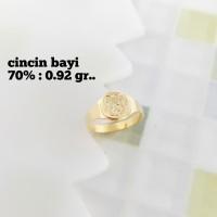 Cincin Bayi Emas / Mas Kuning 70% Berat 0.920 Gram..