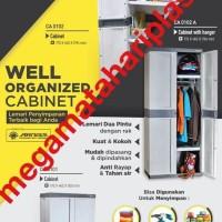 Harga best seller lemari plastik arisa model rak abu abu muda   Pembandingharga.com