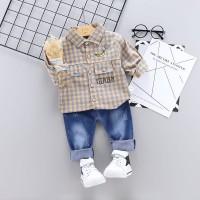 Baju Setelan Anak Laki laki   Kemeja Import Celana Jeans Murah
