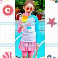 Baju Renang / Swimwear Anak Perempuan Es Krim Pink CLGW274C