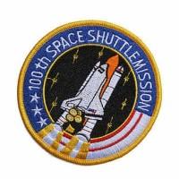 Emblem SPACE MISSION 7X7CM SANGAT RECOMMENDED !!!