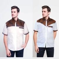 SALE Kemeja Batik Kombinasi Sogan