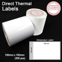Label Sticker thermal barcode Direct Stiker 1 line uk 100x150mm