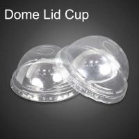 Dome Lid / Tutup Cembung Gelas Plastik PP Poly 12gr Clear