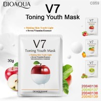 BIOAQUA V7 TONING YOUTH SHEET MASK + seven vitamin essence