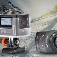 AMKOV AMK-100S 360 Degrees 1440P HD Wi-Fi Sport Camera Panoramic