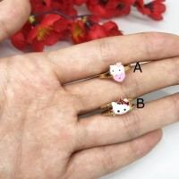 Cincin Anak Xuping HK Kitty Kucing Strawberry Lapis Emas - BR317