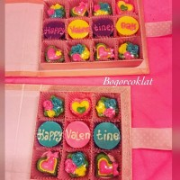 Coklat Ucapan Hadiah Valentine sekat 12