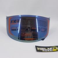 Kaca Visor Flat Iridium Blue KYT RC7 R10 K2RIDER PNP cl max