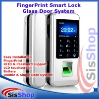FINGERPRINT RFID SMART ACCESS DOOR LOCK GLASS PINTU KACA SMARTLOCK