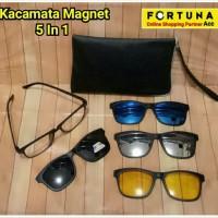 Kacamata 5 In 1 Magnet Sunglasses / Paket Kaca Mata Fashion Unisex