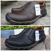 Sepatu kickers casual pria kulit asli