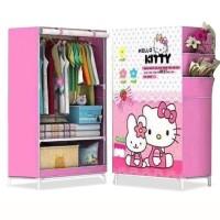 AY Lemari Pakaian Motif Kitty Melody Panoramic Pattern Wardrobe