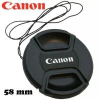lensa cap canon 58mm