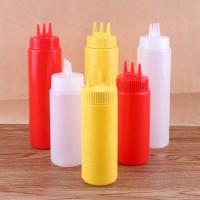 Botol saus sambal 3 lobang 3 warna - 24 oz -