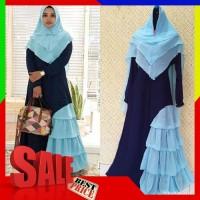 byk wrn Hasna syari gamis set terbaru cantik hijab style murah