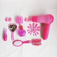 Mainan Hair Dryer Beauty Salon Fashion Set Frozen Fever
