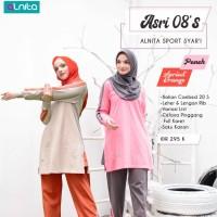Harga Jual Baju Setelan Olahraga Wanita Alnita Asri 08S Sport Syari Katun Combed Di Depok - Cluboutfithjnm