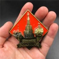 Souvenir Suvenir Fridge Magnet Tempelan Kulkas Negara Myanmar Burma