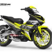 Decal Stiker Yamaha Mx King Black Racing