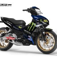 Decal stiker Yamaha MX King Monster energy GP 2019