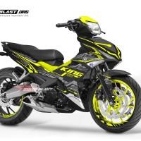 Decal stiker Yamaha Mx King Hitech yellow lime