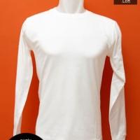 Kaos Polos Lengan Panjang Putih Combed 20s Size M